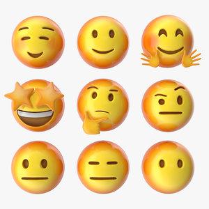 emoji pack 3 19-27 3D model