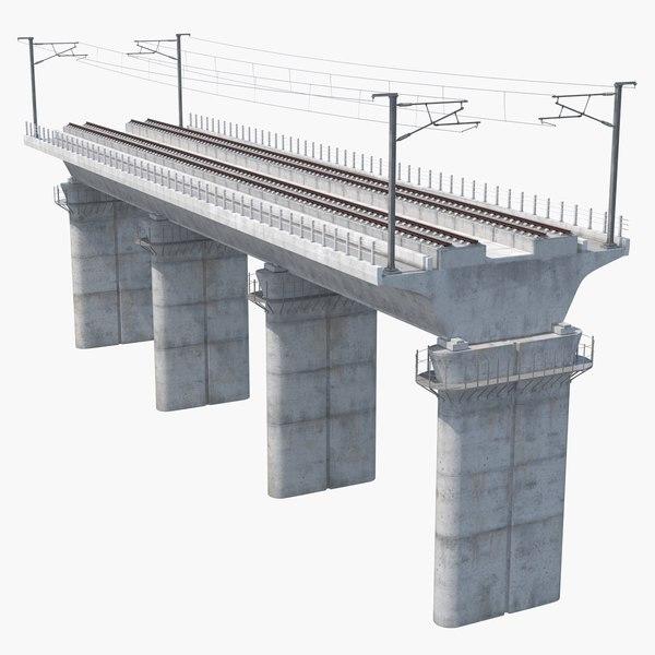 3D speed rail bridge section