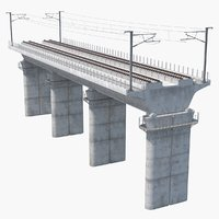 3D speed rail bridge section