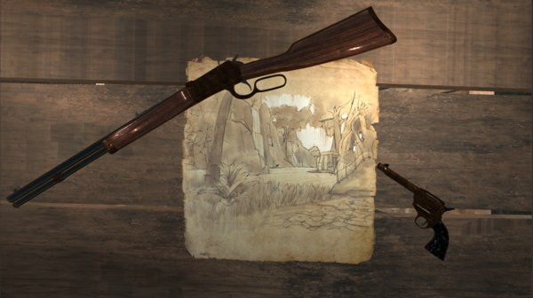 winchester repeater rifle 3D model