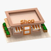 3D cartoon shop