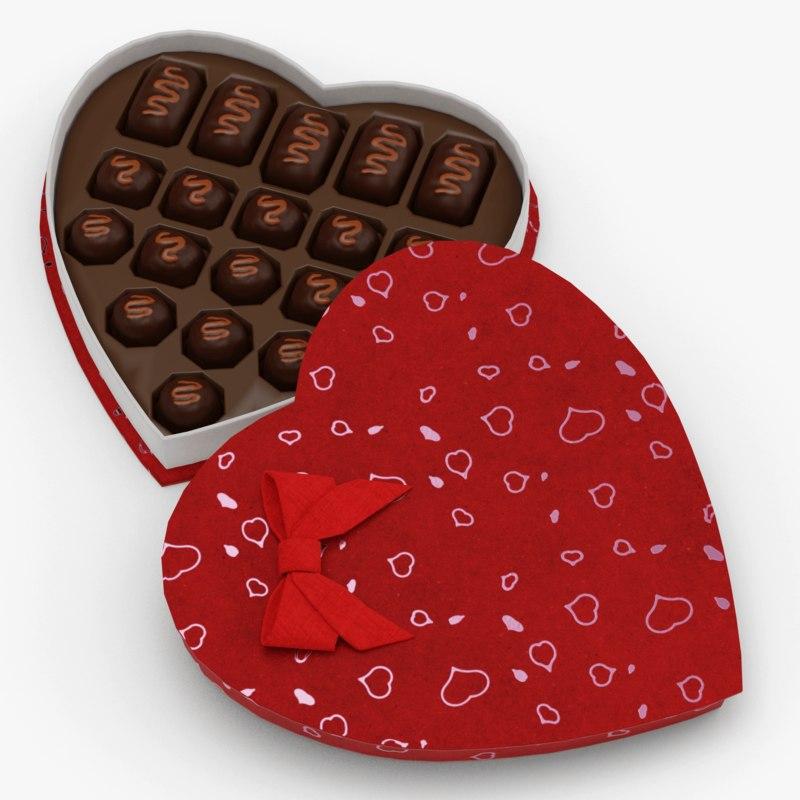 valentine s candy box 3D model
