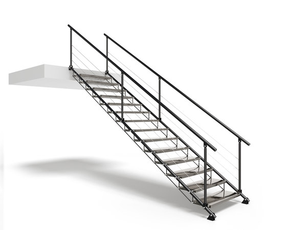 metal stair 3D model