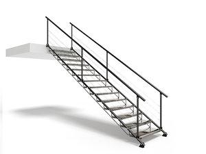 metal stair 3D model
