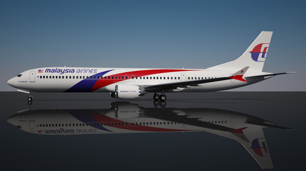 malaysia airlines 10 737 boeing 3D