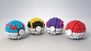 3D lego pokeball