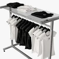 female tshirt stand 3D model