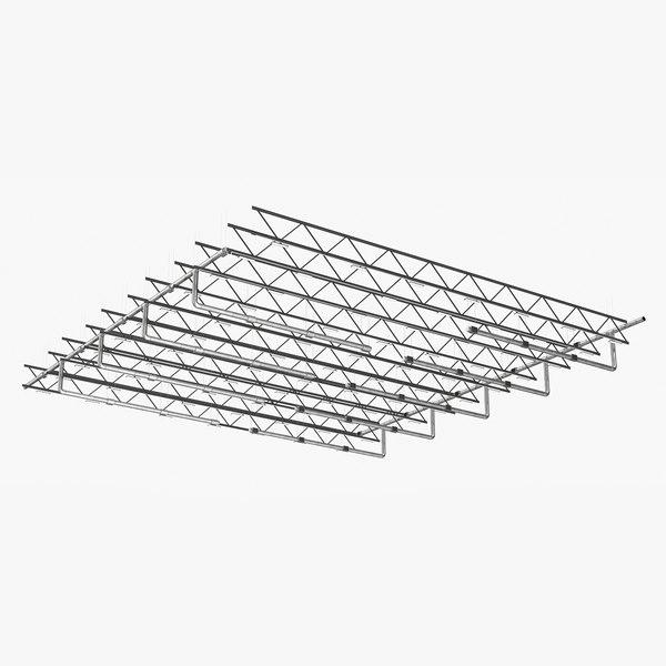3D ceiling ventilation truss