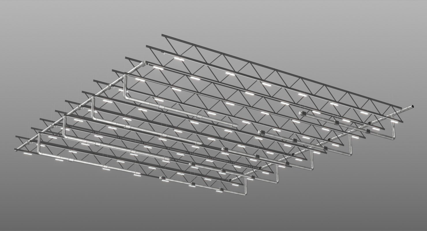 3D ceiling ventilation truss