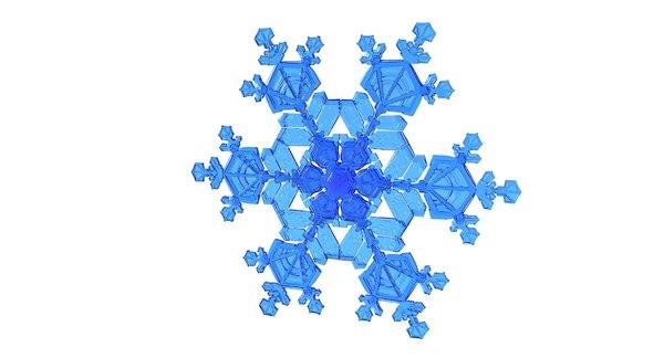realistic snowflake 10 3D model