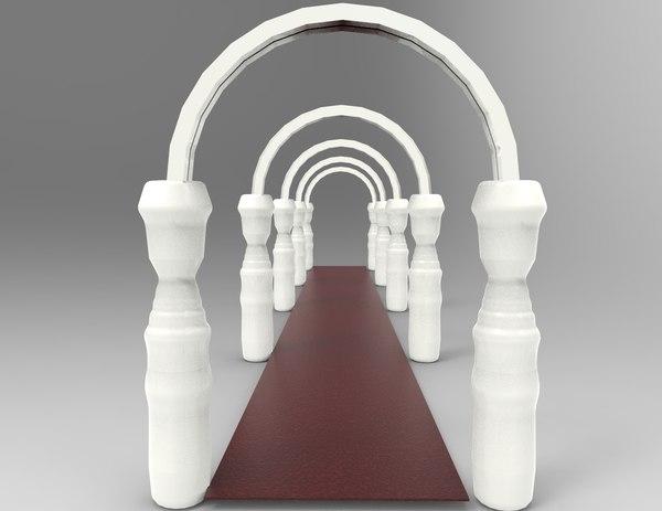 3D ancient column model