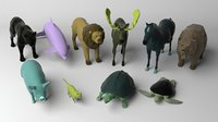 animals pack ow 3D