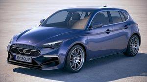 3D noname generic car model