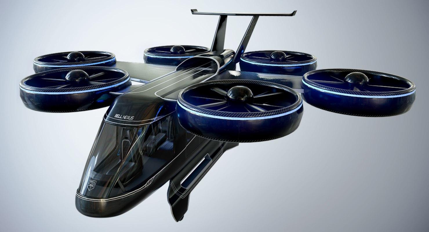 bell nexus flying taxi 3D model