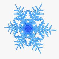 realistic snowflake 9 3D model