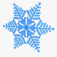 3D realistic snowflake 8