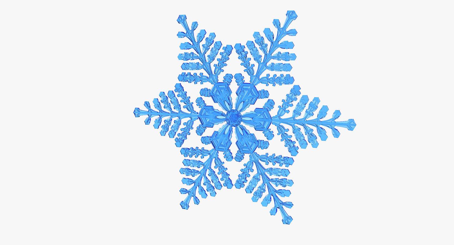3D realistic snowflake 8