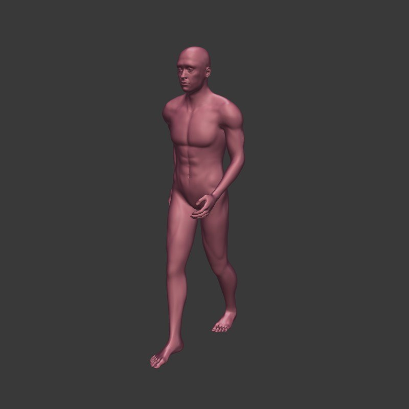 3D man walk cycle