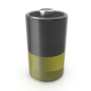 stylized battery icon model