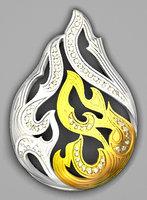3D jewelry pendant model