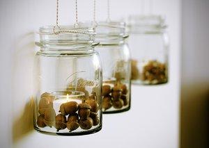 3D bottle acorns decorate