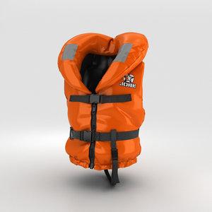 3D model life jacket