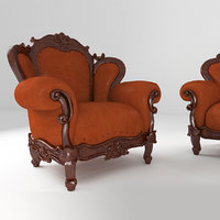 3D model furniture divan armchair table