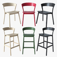 stool chair edith traba 3D