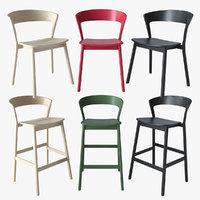 stool chair edith traba 3D