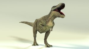 rigged t-rex animation 3D model