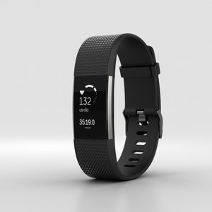 fitbit charge 2 3D model