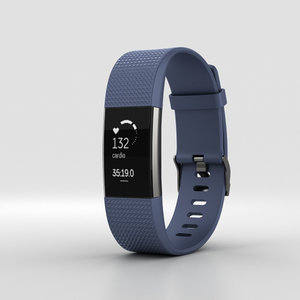 3D model fitbit charge 2