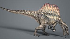 3D spinosaurus animations