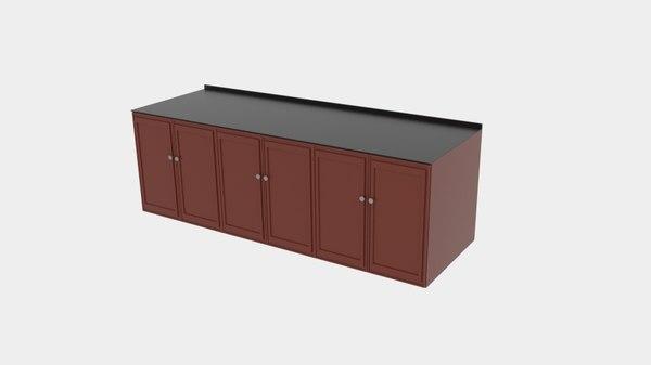 cabinet box stack 3D model