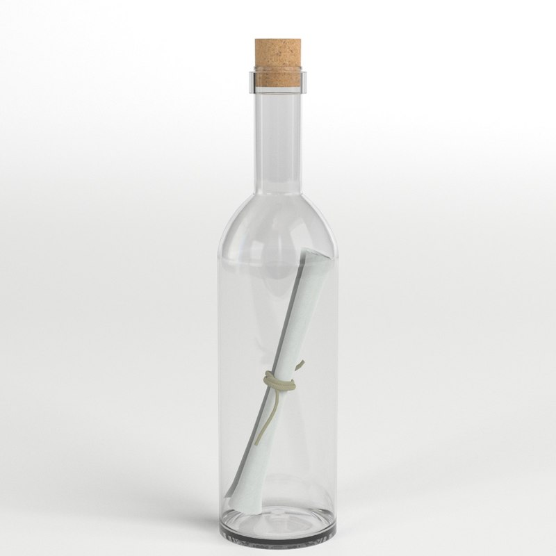 message bottle 1 3D model