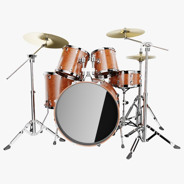 3D drums wood model