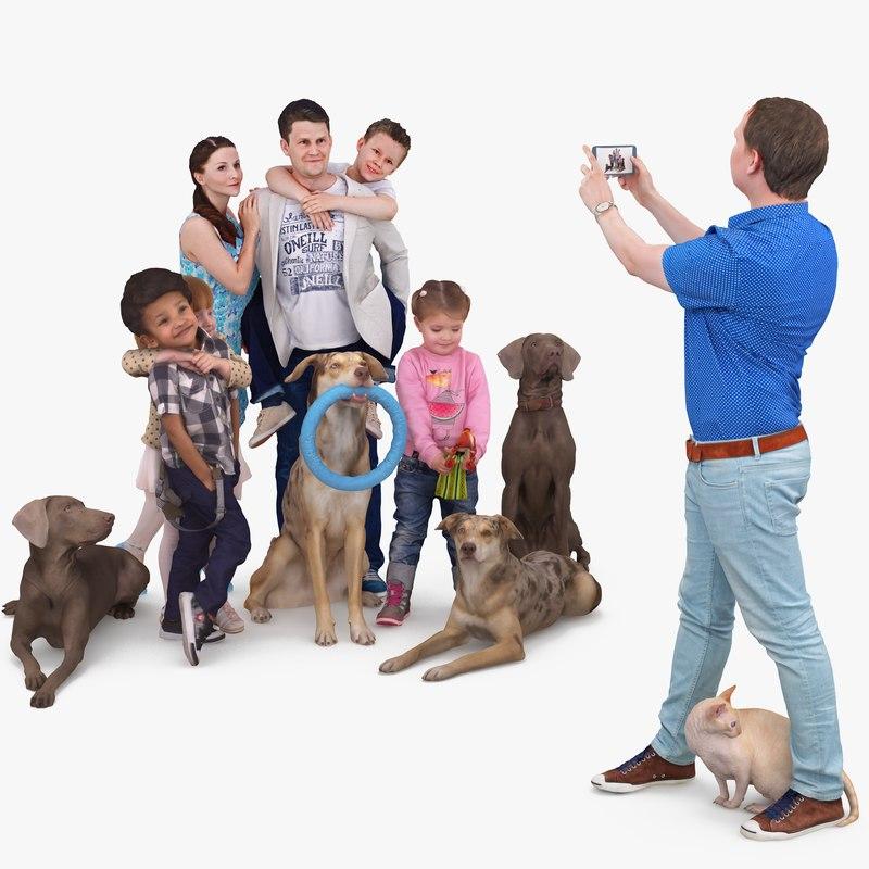 3D human photo family model