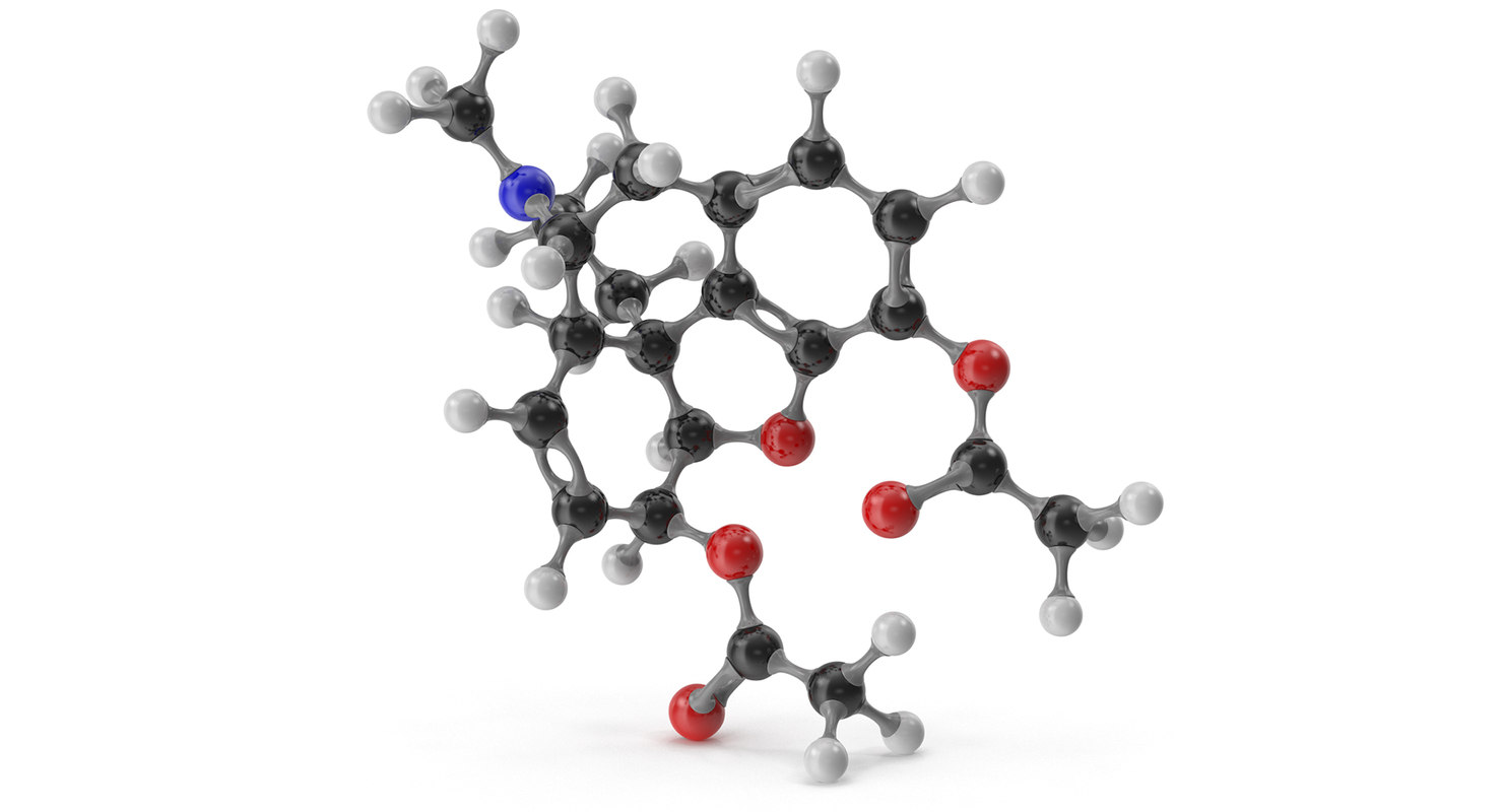 heroin molecular 3D