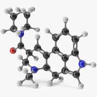 lsd molecular 3D model