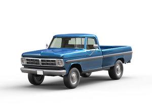 3D cars pickup truck