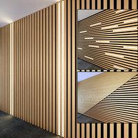 wooden slats 3D