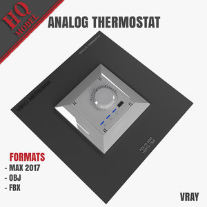 analog thermostat 3D model