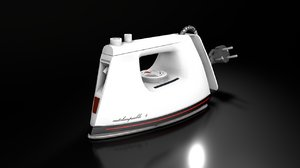 3D old style clothes iron
