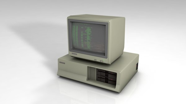 old pc computer 3D