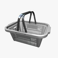 plastic shopping basket 1 3D model