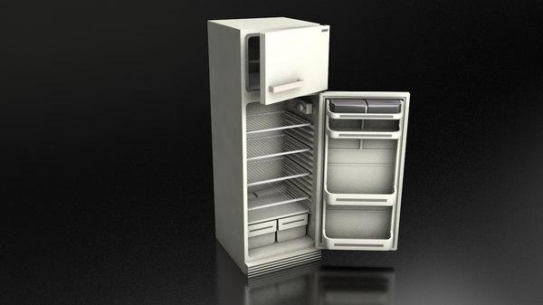 vintage refrigerator 3D model
