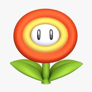 3D flower super mario assets