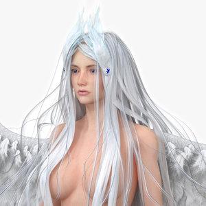 3D evora fantasy woman rig