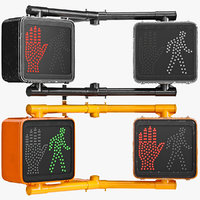3D walk signal sign