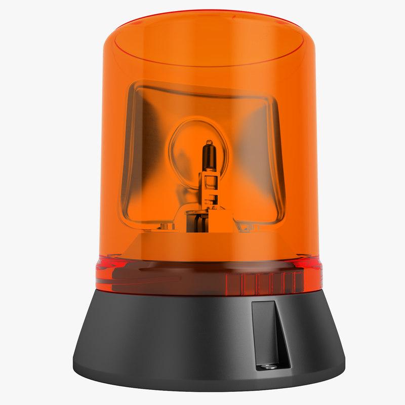 emergency warning light 3D model